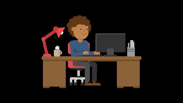 Adult at Computer